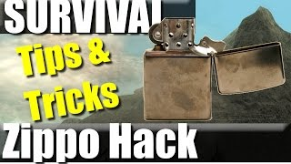 Zippo hack: Survival Lighter even with no fuel | RevHiker Outdoors