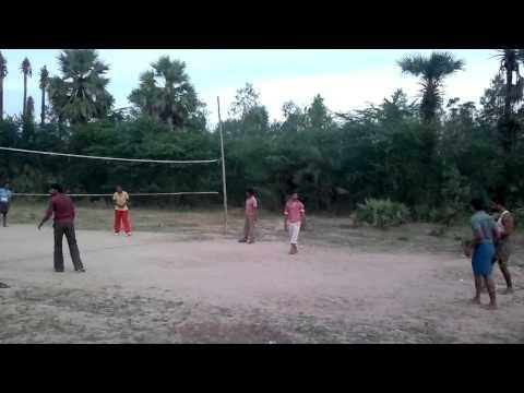 village volleyball in inamanamelluru , Andhra Pradesh