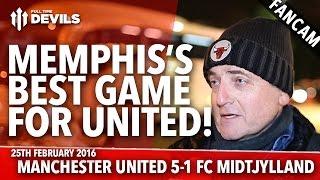 Memphis's Best Game For United! | Manchester United 5-1 FC Midtjylland | FANCAM