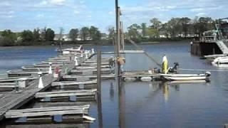 Installing boat dock pilings April 19, 2010 Lightening Jack's Marina NJ