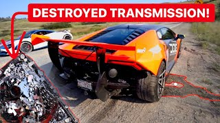 WHAT'S INSIDE A DESTROYED $30,000 LAMBORGHINI TRANSMISSION?! *TOTAL DESTRUCTION*