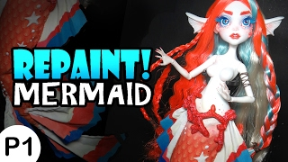Repaint! -PART 1- Poseable Mermaid Cora Tail and Body Mods