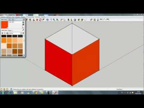 Tutorial Sketchup Cómo hacer un cubo y pintar sus caras.