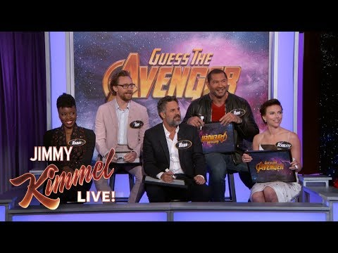 The Cast of Infinity War Plays Guess the Avenger