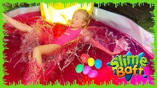 Slime Baff & Surprise Eggs on the Pirate Ship Playground Park for Kids W/ Paw Patrol, Hello Kitty