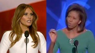 Did Melania Trump PLAGIARIZE Michelle Obama?? | What