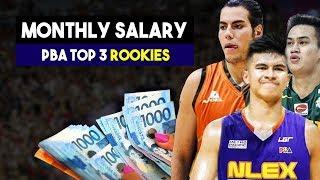 Magkano ang Sahod nina Ravena, Jose at Standhardinger | PBA Top 3 Rookies Monthly Salary