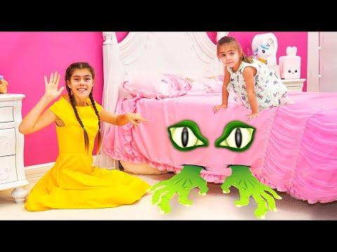 Nastya y Mia es una historia sobre un monstruo aterrador debajo de mi cama