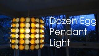 Dozen egg pendant light - modern interior decor idea - EzyCraft