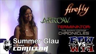 Summer Glau - Ottawa ComicCon Panel - Assembled