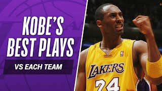 Kobe Bryant's BEST PLAY vs EVERY NBA TEAM In His Career!