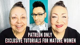 Simple and Quick Makeup Tips for Mature Women LIVE! Exclusively for my Patron Fans