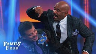 Neil deGrasse Tyson & Steve discuss Uranus   Celebrity Family Feud