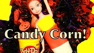 Frozen PLAY DOH Candy Corn Halloween Disney Princess Anna Playdough Creation