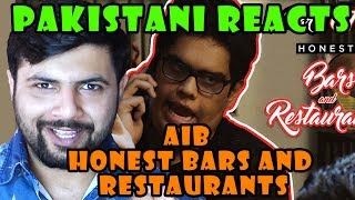 Pakistani Reacts to AIB HONEST RESTAURANTS AND BARS PART 1