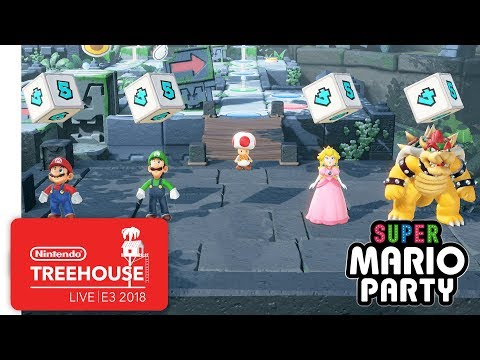 Super Mario Party Gameplay Pt. 1 Nintendo Treehouse Live E3 2018
