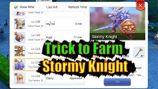 Ragnarok M Eternal Love Trick to Farm Stormy Knight MVP lvl 115