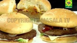 Panasonic Quality Kitchen [Masala TV] Choc Chip Cookie Cake and Double Quarter Pounder Burger