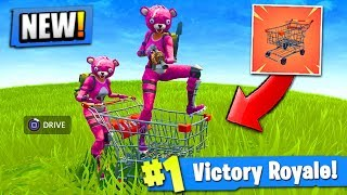 *NEW* SHOPPING CART GAMEPLAY in Fortnite: Battle Royale! (+ LOCATIONS)