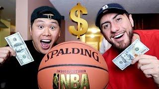 CRAZY $100 BASKETBALL GAME (DAVIDPARODY VS CHADWITHAJ)