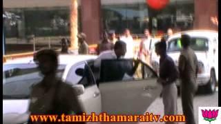 central minister a.k.antony arrival chennai airport