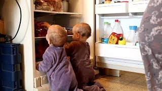 Funny Twin Babies Try To Discover The Fridge || Best Babies Compilation