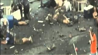 Close up aftermath of Reno air show crash.mp4