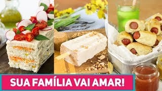 3 RECEITAS FÁCEIS para o FIM DE SEMANA EM FAMÍLIA - Torta, Picolé Caseiro e Enroladinho de Salsicha
