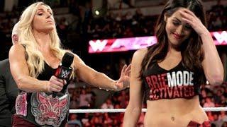 WWE RAW : 02.15.16 Brie Bella attack Charlotte Segment (720pHD)