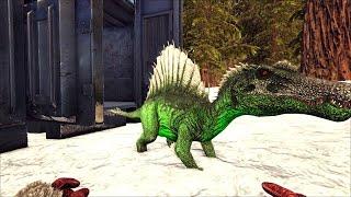 Ark survival! Mutated Illuminous green spino baby! Ark asylum 18