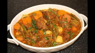 خوراک لوبیا سبز یکی از غذاهای  لذیذ و خوشمزه  شناسنامه دار ایران به سبک آشپزی با نیلوفر _ Episode 98