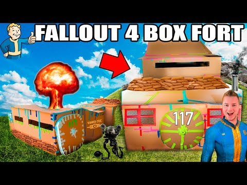Xxx Mp4 TWO STORY FALLOUT 4 BOX FORT VAULT 📦 ☢️ 24 Hour Challenge NERF Electricity More 3gp Sex