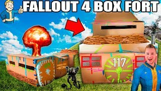 TWO STORY FALLOUT 4 BOX FORT VAULT!!📦 ☢️ 24 Hour Challenge: NERF, Electricity & More!