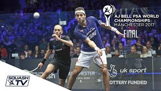 Squash: Mo. ElShorbagy v Mar. ElShorbagy - AJ Bell PSA World Champs 2017 Final Highlights