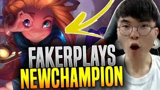 Faker Loves the New Champion Zoe! - SKT T1 Faker Plays New Champion Zoe for New Season! | SKT T1