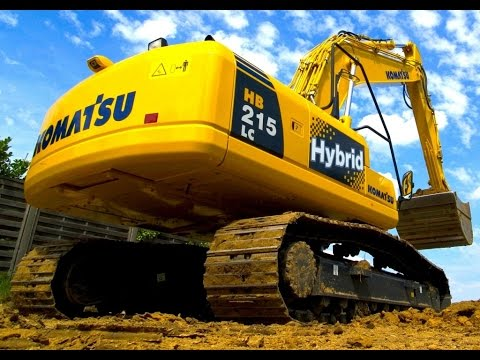 komatsu electric diesel hybrid excavators جرافات هايبريد متطورة و اقتصادية