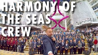 Harmony of the Seas Preview ~ Behind-the-Scenes: Crew Moves In ~ Royal Caribbean International