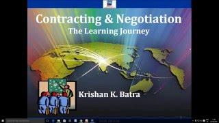 Webinar on Contracting Negotiation