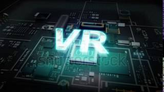 stock footage hologram typo v r on cpu chip circuit grow artificial intelligence technology