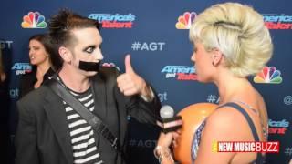 Tape Face Boy Says _________ Americas's Got Talent Backstage
