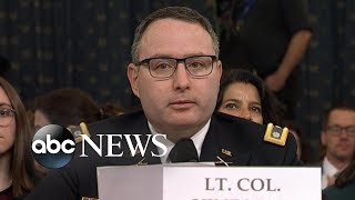 Lt. Col. Vindman addresses his father: 'I will be fine for telling the truth' | ABC News
