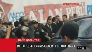 Ollanta Humala no pudo ingresar a la Casa del Pueblo del Apra