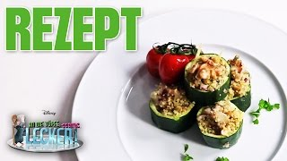 An die Töpfe, fertig, lecker! - Rezept: Zucchini mit Couscous-Austernpilz-Füllung | Disney Channel