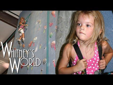 4 Year Old Girl Climbs Rock Wall | Whitney