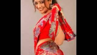 Meera Vasudev - Hot Red Saree