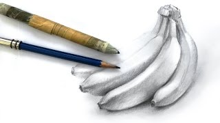 How to Draw a Bunch of Bananas with Pencil