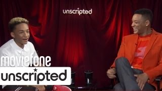 Jaden Smith Makes Fun Of His Dad | 'After Earth' Unscripted | Moviefone