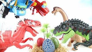 Eat Baby Dinosaurs! GoGo Dino  Defeat Dinosaur egg stealer Rex! 고고다이노 공룡 알 도둑을 혼내줘!
