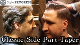 Vintage Hairstyle - Traditional Men's Taper Haircut With Side Part   Style Progress