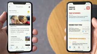 Google News vs. Apple News on iOS